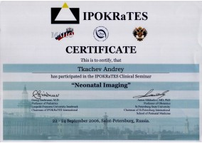 "Certificate Participation in the IPOKRaTES Clinical Seminar ""Neonatal Imaging"""
