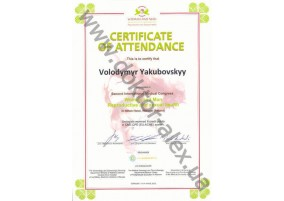"Certificate Participation in Second International Medical Congress ""Woman and Man. Reproductive and sexual health"" In Hilton Hotel, Warsaw (Poland)"