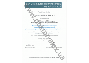 "Certificate Functional Endoscopie Sinus Techniques & Endoscopic Rhino-Neurosurgery ""From Diagnosis and Surgery to Advanced Applications"""